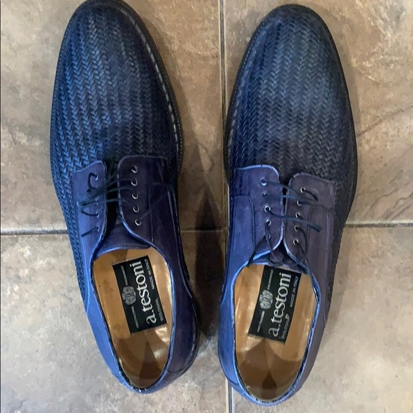 a.testoni Shoes   Dark Blue Mens Dress